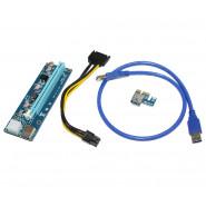 Райзер ATcom PCI-E x1 to 16x 60cm USB 3.0 Cable, 6pin Power (REV 006)
