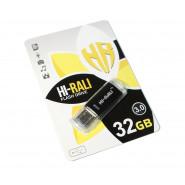 USB 3.0 Flash Drive 32Gb Hi-Rali Rocket series Black, HI-32GB3VCBK